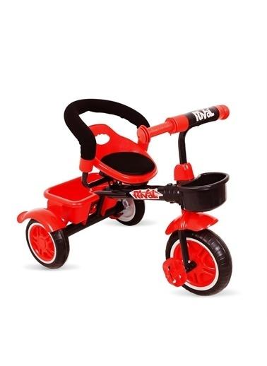 Rival Rv502 Plus 3 Tekerli Çocuk Bisikleti Eva Dolgu, Patlamaz Ses Yapmaz Çocuk Bisikleti Kırmızı